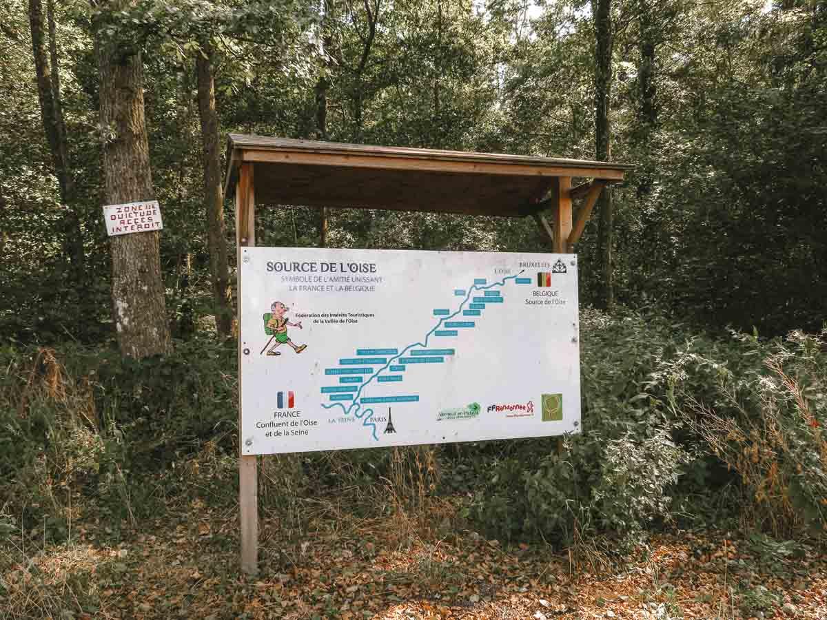 Wandeling in Bourlers in Henegouwen langs de Oise bronnen