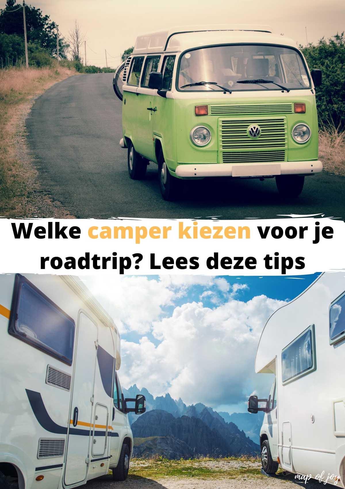 Welke camper kiezen voor je roadtrip? Lees deze tips